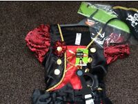 Brand new pirate girl Halloween dress up age 3 to 4 years