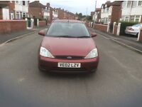 Ford Focus 1.6 LX 5dr hatchback petrol manual 2002 excellent condition mot Spairs or repairs £125.