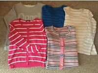 5 x Ladies sweat tops and cardigan for sale. Various colours all ladies size 10-12.
