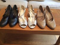 3 pairs Size 6 'New Yorker' professional dance shoes.