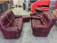 Leather sofas & chair