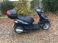 2016 Piaggio Fly 125ie 3v Blue 12 Months MOT ONLY 1350km 125cc Scooter Moped Zip Liberty Meadley