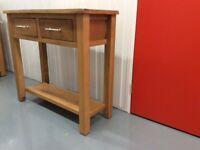 Wooden oak console table