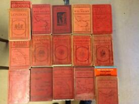 WARD LOCK RED GUIDES-VINTAGE-17 BOOKS IN TOTAL AS PICTURED