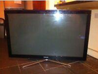 Samsung 3d TV- 50inch plasma, cracked screen