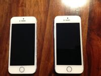 2 x iPhone 5s white both unlocked, good condition £80 each
