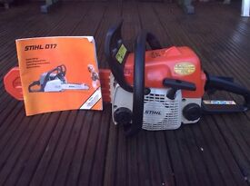 STIHL 017 CHAINSAW.