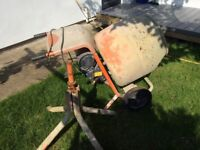 Second-hand electric cement mixer, good condition, in working order, clean drum.