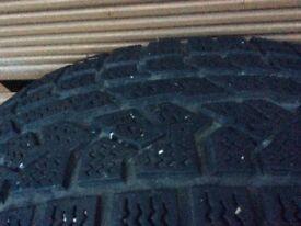 Navara alloy wheel and tyre