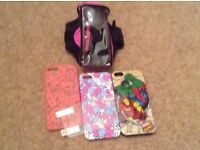 iPhone 5 screen protector, cases & arm holder