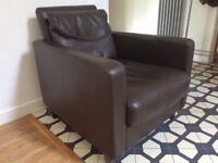 Habitat Chester leather armchair £1300