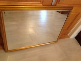 Large Mirror with Gold Frame 110cm x 86cm