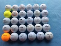 Golf balls, bag of 30 used
