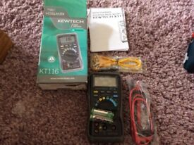 Kewtech kt116 digital multimeter
