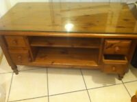 Ducal Pine Furniture Set, Hifi Cabinet 2 x Sidetables 1 Coffee Table/Tv Unit