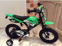 Kids Avigo dirt bike style bicycle - almost brand new