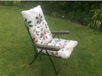 Reclining garden or camping chair