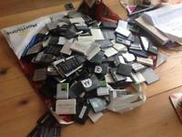 Assorted mobile phone batteries new or used