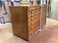 Vintage Toolmaker's Drawer Cabinet