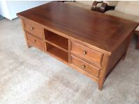 Marks &Spencer solid wood coffee table with 4 drawers