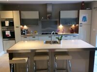 Stunning modern kitchen , with two Miele ovens, dishwasher, 5 ring gas hob