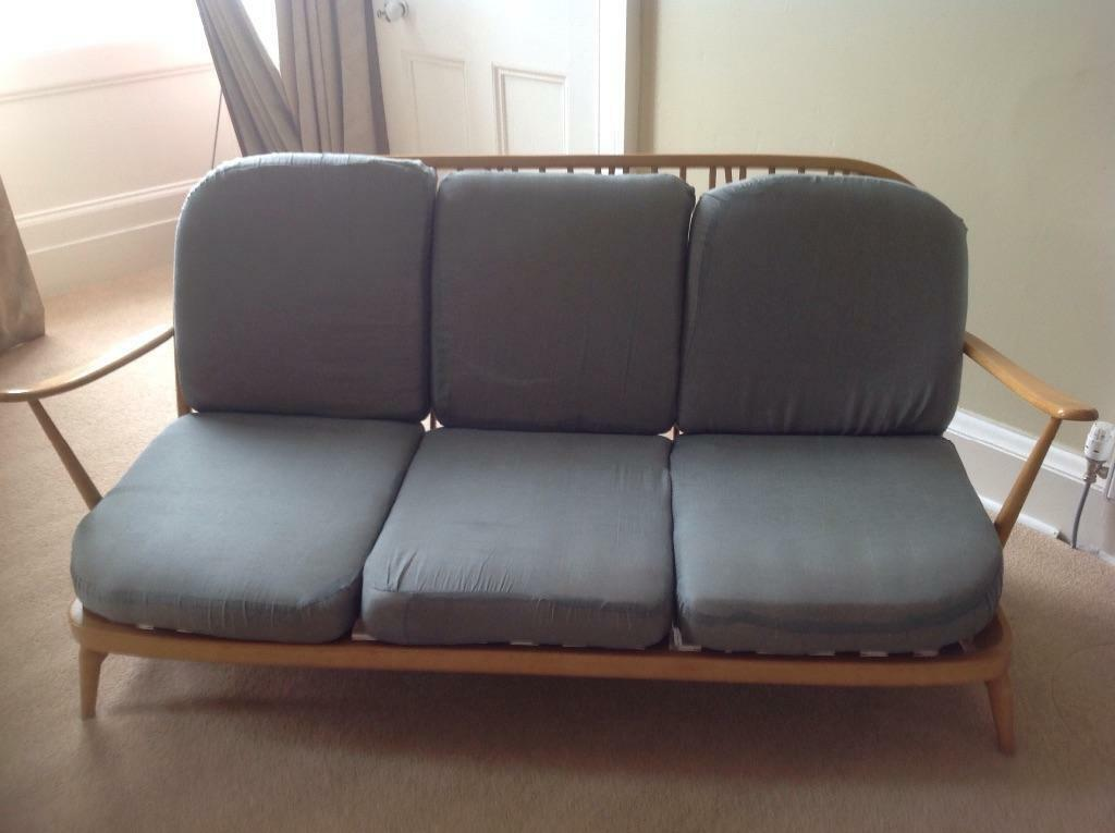 Classic Ercol Three Seater Sofa With Cushions In West