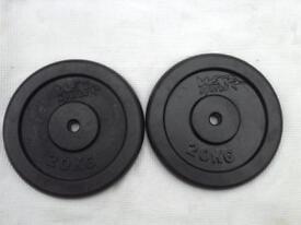 8 x 20kg WeRSports Standard Cast Iron Weights