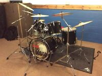 Fender Starcaster drum kit, five-piece, plus all stands, cymbals, cases and many extras, £500.