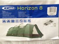 Gelert Horizon 8 man tunnel tent and footprint.Only used twice. Sale due to motor home purchase.