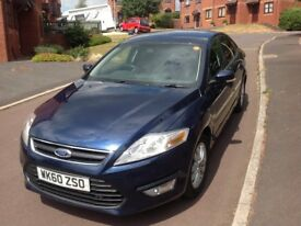 Ford Mondeo TDCI Zetec 2.0L 2010 Blue Good condition 83,300 miles fitted Witter detachable tow bar