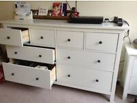 Chest of draws with bedside table