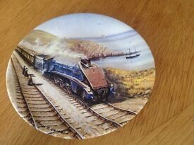 Set of 8 decorative plates - Paul Gribble Great Steam Trains