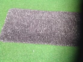 Shag pile heather colour carpet hall runners.