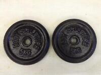 6 x 5kg Bodysculpture Standard Cast Iron Weights