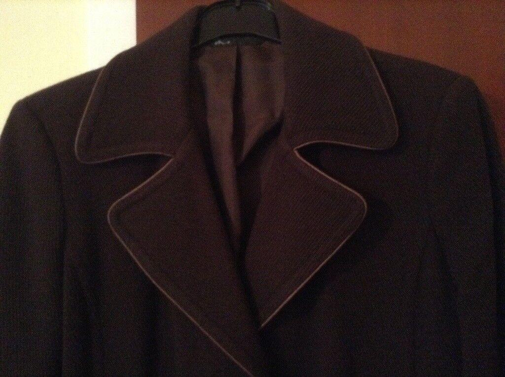 Ladies brown wool coat