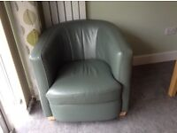 2 x Leather Tub Chairs