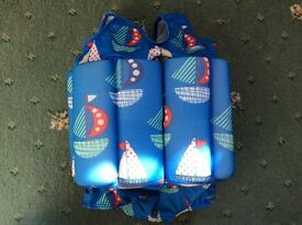 Blue float suit, 1-2 years, perfect as new condition