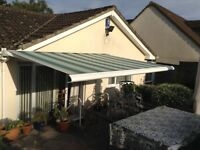 Electric operated garden awning