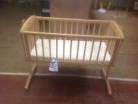 Used swinging wooden crib,vgc