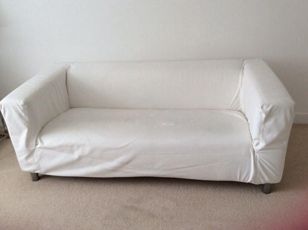 ikea 2 seater klippan sofa colour kimstad white in. Black Bedroom Furniture Sets. Home Design Ideas