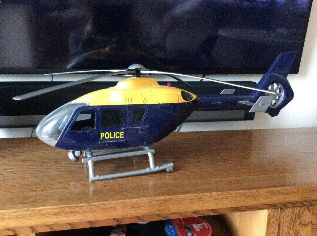 Toy police helicopter