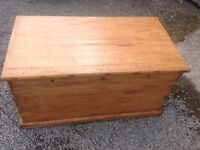 Antique Stripped Pine Chest.