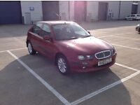 rover 25 1.4 impression s3 5 door in red with 89000 miles and the mot until the 27 of July 2017