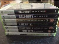 Xbox 360 Games Call of Duty Various