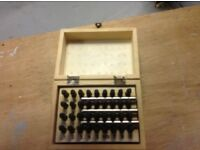 Box of Metal letter and number stamps