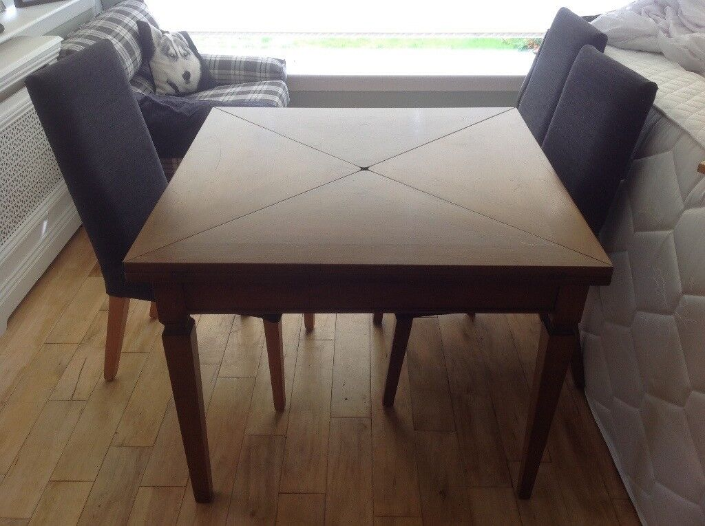 Cherry Wood Captains Dining Table - Very Unusual