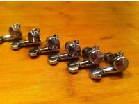 Cheap electric guitar locking tuners, 6 in-line