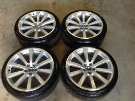 "GENUINE 19"" TIGUAN R LINE/OMANYT WHEELS AND TYRES(GOLF,GTI,GTD,GT TDI,CADDY,LEON,TOURAN,JETTA,PASSAT"