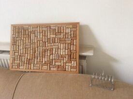 Pin Corkboard made of corks