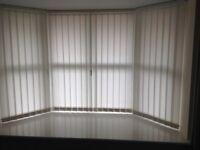 3 vertical blinds. £40